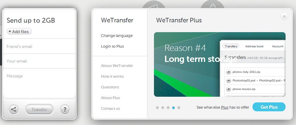 how to send files via we transfer